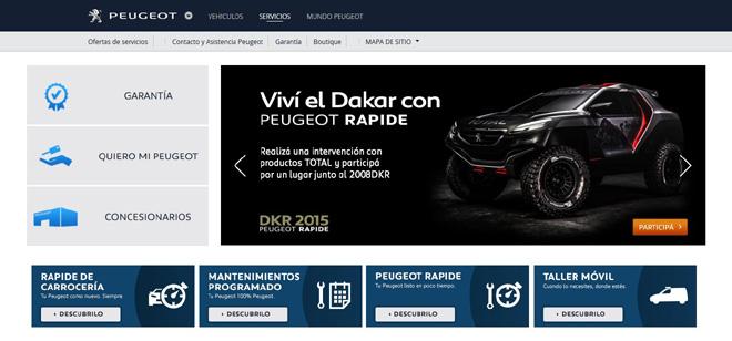 Peugeot - Rapide - seccion servicios