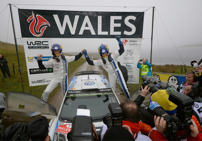 WRC - Gales 2014 - Final - Sebastien Ogier - VW Polo R