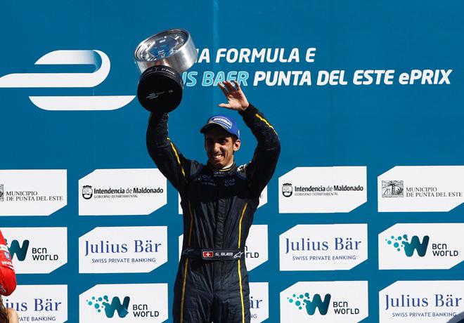 Formula E - Punta del Este - Uruguay 2014 - Sebastien Buemi en el Podio