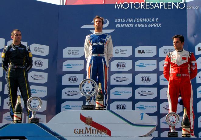Formula E - Buenos Aires - Argentina 2014 - Prost - da Costa - Piquet en el Podio 1