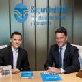 Sebastian Dañil -Suzuki- con Felipe Rodriguez Laguens - Director Nacional de Seguridad Vial