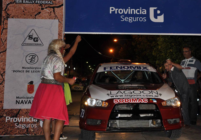 Rally Federal - Navarro - Largada - Gonzalo Monarca - Mitsubishi Lancer EVO