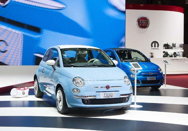 Fiat - Salon de Ginebra 2015 - 500 Vintage 57 y 500S