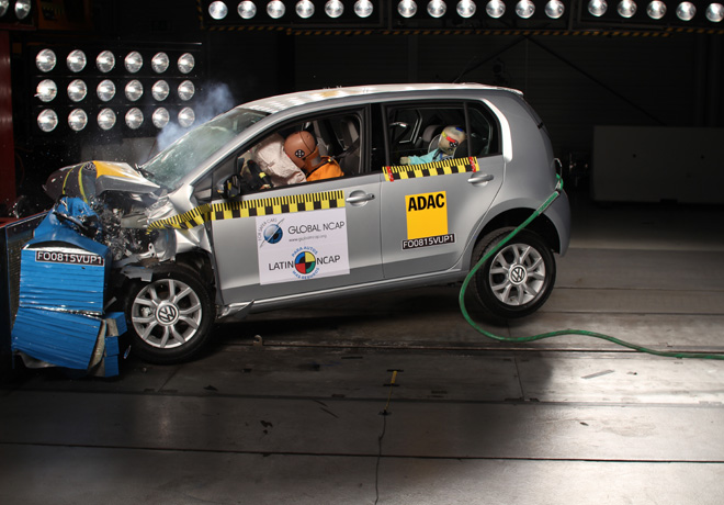 Latin NCAP - VW Up repite resultado en test de auditoria 4