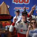 NASCAR - Fontana 2015 - Brad Keselowski en el Victory Lane