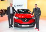 Renault - Salon de Ginebra 2015 - Michael Van der Sande y Laurens Van den Acker junto al Kadjar