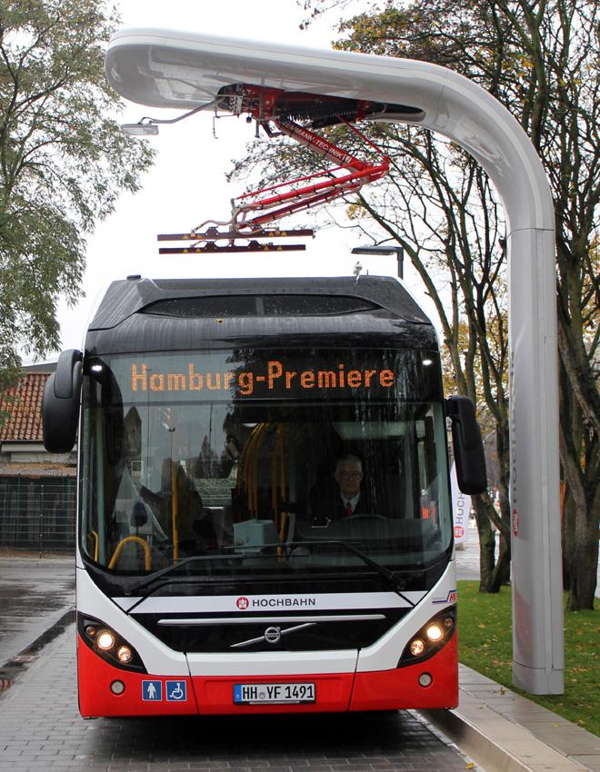 Siemens proveera el sistema de carga de la nueva linea de autobuses hibridos electricos de Estocolmo