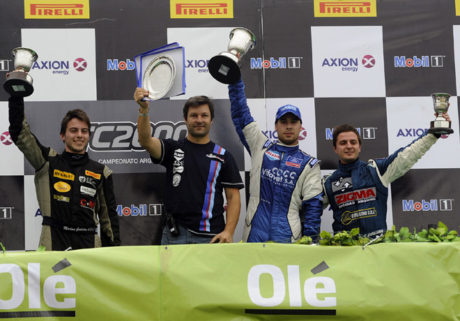 TC2000 - Cordoba 2015 - Carrera 1 - Matias Galetto - Antonino Garcia - Gianfranco Collino en el Podio