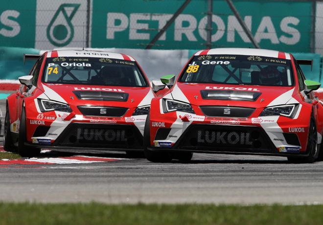 TCR - Sepang - Malasia 2015 - Carrera 2 - Jordi Gene y Pepe Oriola - Seat Leon