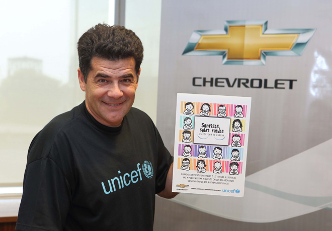Chevrolet - Julian Weich - embajador de UNICEF