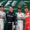 F1 - China 2015 - Rosberg - Hamilton - Vettel en el Podio