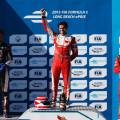 Formula E - Long Beach - Estados Unidos 2015 - Jean-Eric Vergne - Nelson Piquet Jr - Lucas Di Grassi en el Podio