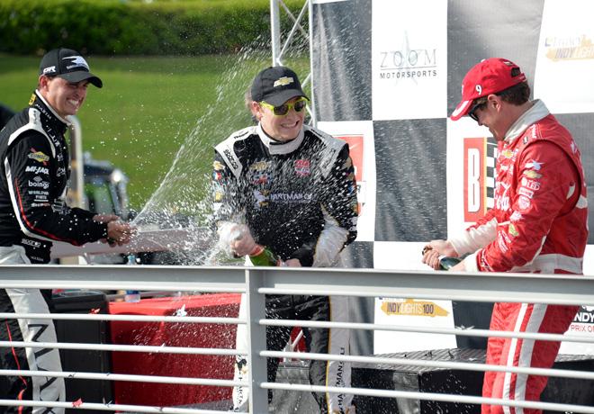 IndyCar - Birmingham 2015 - Rahal - Newgarden - Dixon en el Podio