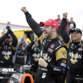 IndyCar - Louisiana 2015 - James Hinchcliffe en el Victory Lane