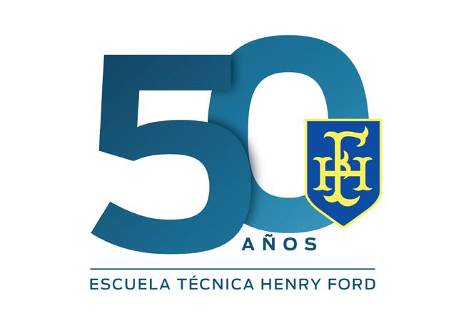 Logo Escuela Tecnica Henry Ford 50 aniversario