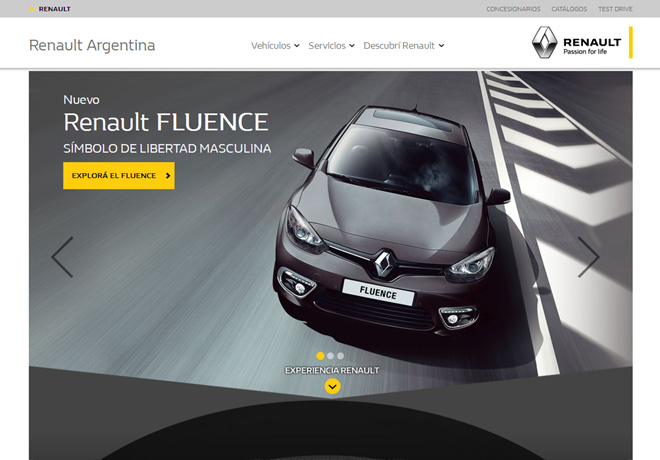 Renault Passion for life - website