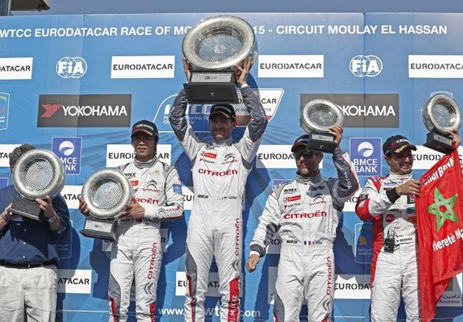 WTCC - Marruecos 2015 - Carrera 1 - El Podio