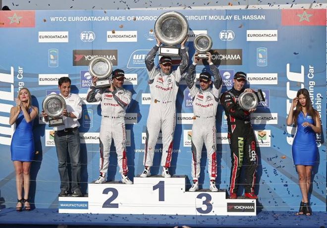 WTCC - Marruecos 2015 - Carrera 2 - El Podio