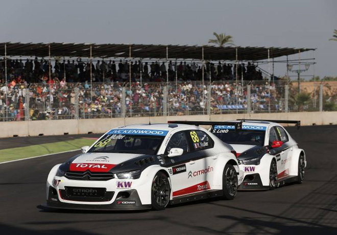 WTCC - Marruecos 2015 - Carrera 2 - Yvan Muller y Sebastien Loeb - Citroen C-Elysee