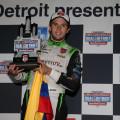 IndyCar - Detroit 2015 - Carrera 1 - Carlos Munoz en el Podio