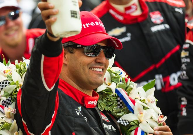 IndyCar - Indianapolis 500 2015 - Juan Pablo Montoya en el Victory Lane