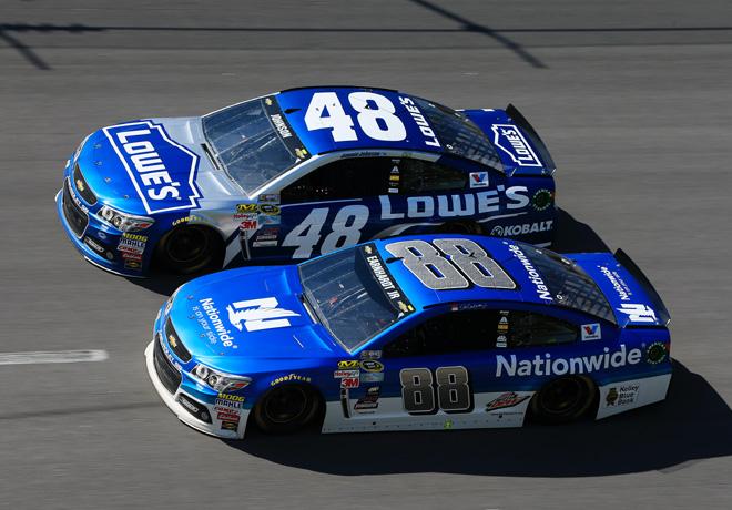 NASCAR - Talladega 2015 - Dale Earnhardt Jr y Jimmie Johnson - Chevrolet SS