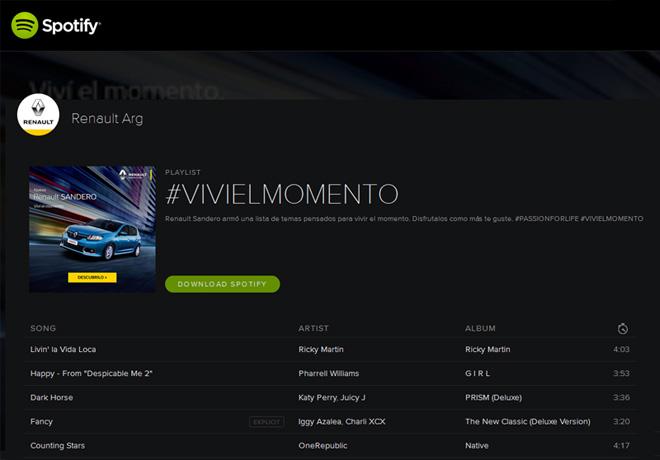 Renault Spotify