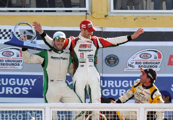 TC - Viedma 2015 - Agustin Canapino - Facundo Ardusso - Omar Martinez en el Podio