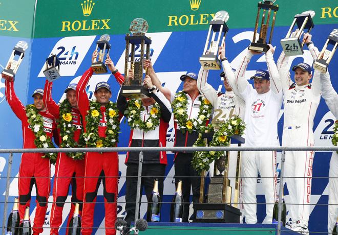 24 hs de Le Mans 2015 - El Podio