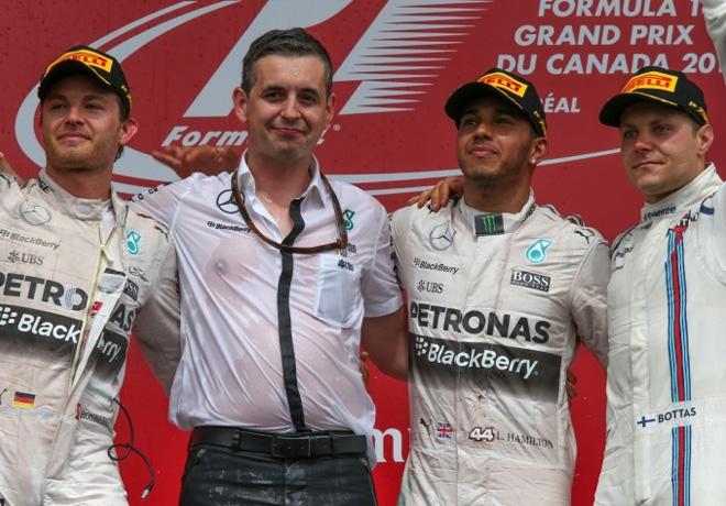 F1 - Canada 2015 - Carrera - Nico Rosberg - Lewis Hamilton - Valtteri Bottas en el Podio