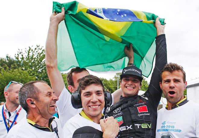 Formula E - Londres - Inglaterra 2015 - Carrera 2 - Nelson Piquet Jr - Primer Campeon