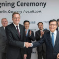Grupo Volkswagen y SAIC firmaron acuerdo para investigacion en movilidad electrica