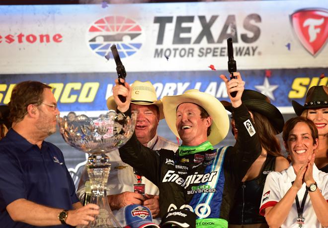 IndyCar - Texas 2015 - Carrera - Scott Dixon en el Victory Lane