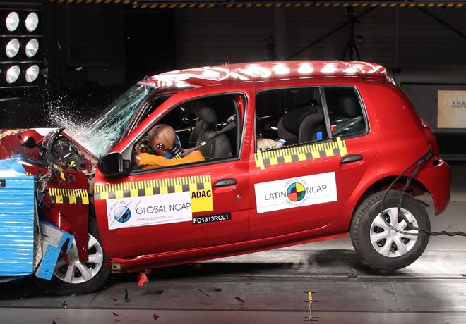 Latin NCAP - Renault Clio Mio - Sin Airbags