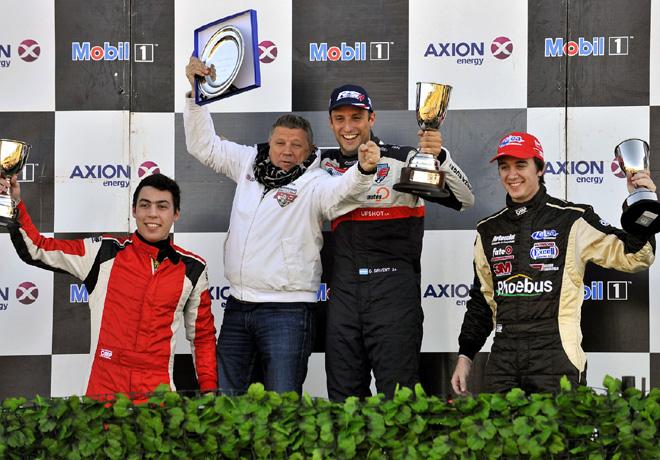 TC2000 - Junin 2015 - Carrera 1 - Tomas Gagliardi Genne - Ruben Salerno - German Sirvent - Augusto Scalbi en el Podio