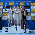 WTCC - Moscu - Rusia 2015 - Carrera 1 - Yvan Muller - Jose Maria Lopez - Gabriele Tarquini en el Podio
