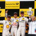DTM - Zandvoort 2015 - Carrera 2 - Augusto Farfus - Antonio Felix Da Costa - Bruno Spengle el Podio copia