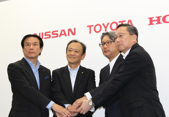 Ejecutivos de Nissan Toyota y Honda anunciaron desarrollo de infraestructura para estaciones de hidrogeno