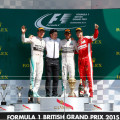 F1 - Gran Bretana 2015 - Carrera - Nico Rosberg - Lewis Hamilton - Sebastian Vettel en el Podio
