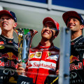 F1 - Hungria 2015 - Carrera - Daniil Kvyat - Sebastian Vettel - Daniel Ricciardo en el Podio
