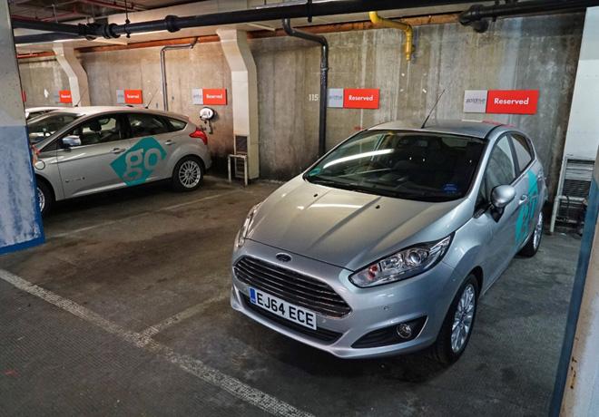 Ford ofrece Car-Sharing con estacionamiento garantizado.