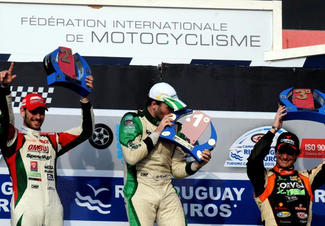 TC - Termas de Rio Hondo 2015 - Carrera 1 - Facundo Ardusso - Agustin Canapino - Juan Marcos Angelini en el Podio