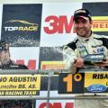 Top Race - Concepcion del Uruguay 2015 - Carrera 2 - Agustin Canapino y Ricardo Risatti en el Podio