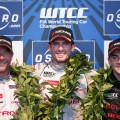 WTCC - Vila Real - Portugal 2015 - Carrera 1 - Sebastian Loeb - Jose Maria Lopez - Norbert Michelisz en el Podio