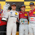 DTM - Moscu 2015 - Carrera 2 - Bruno Spengler - Mike Rockenfeller - Mattias Ekstrom en el Podio