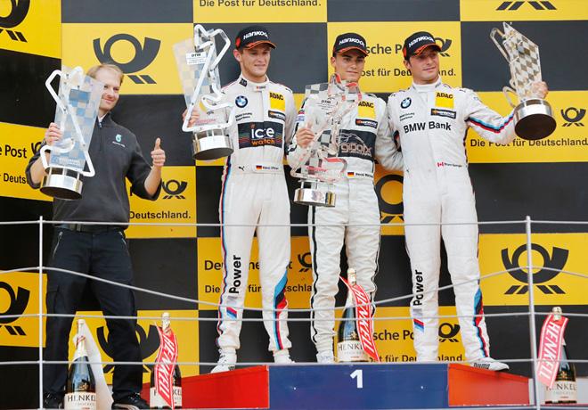 DTM - Norisring 2015 - Carrera 1 - Bruno Spengler - Pascal Wehrlein - Marco Wittmann en el Podio copia