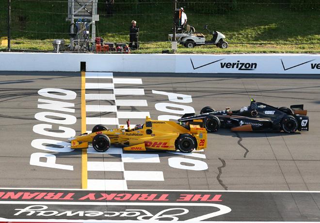 IndyCar - Pocono 2015 - Carrera - Ryan Hunter-Reay