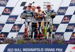 MotoGP - Indianapolis 2015 - Jorge Lorenzo - Marc Marquez - Valentino Rossi en el Podio