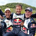 WRC - Alemania 2015 - Final - Andreas Mikkelsen - Sebastien Ogier - Jari-Matti Latvala - 1-2-3 de VW