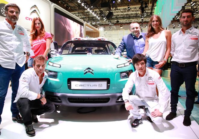 Citroen - Salon de Frankfurt 2015 - Pilotos del WTCC junto al Cactus M